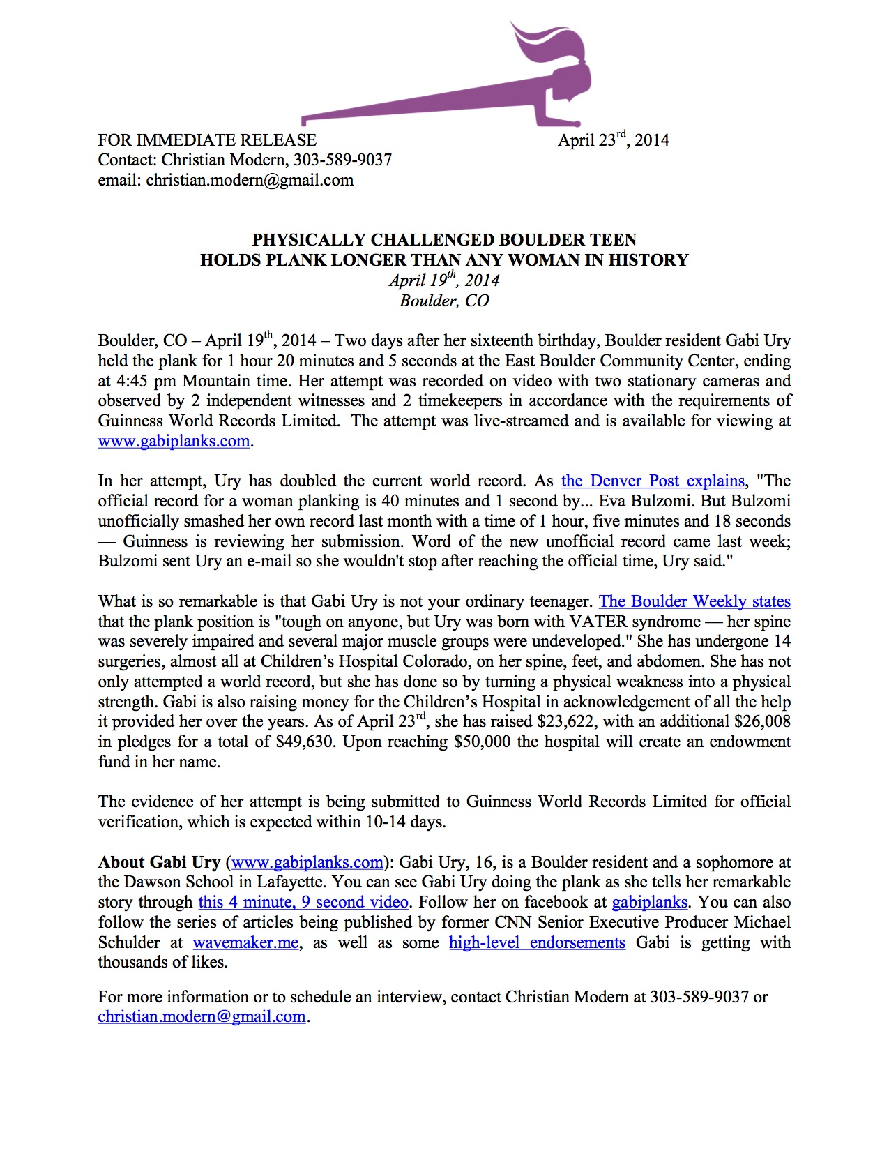 Press Release from 4:23:2014